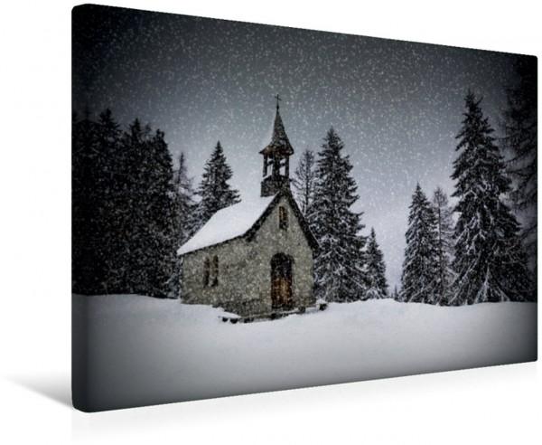 Wandbild HEMMERSUPPENALM Anna Kapelle I Kapelle im Schneegestöber Kapelle im Schneegestöber