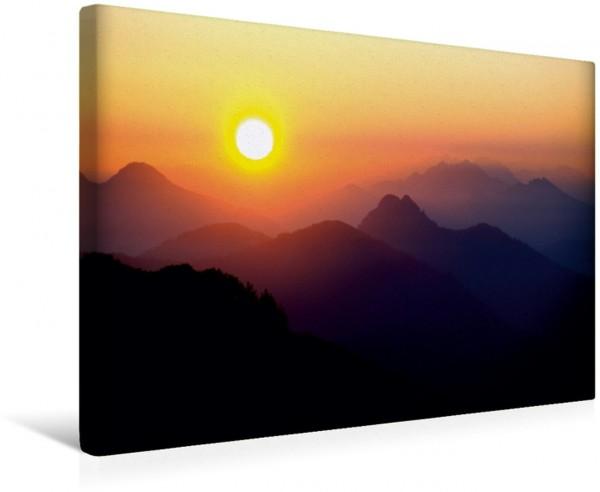 Wandbild Buchstein und Roßstein Magische Berge im Morgenlicht. Magische Berge im Morgenlicht.