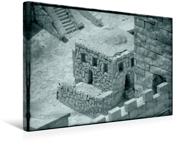 Wandbild Detailarbeit Architektur Stein auf Stein in der Modellstadt Alt-Jerusalem Stein auf Stein in der Modellstadt Alt-Jerusalem