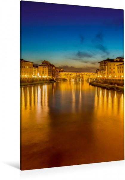 Wandbild FLORENZ Ponte Vecchio bei Sonnenuntergang Einzigartiges Stadtbild Einzigartiges Stadtbild