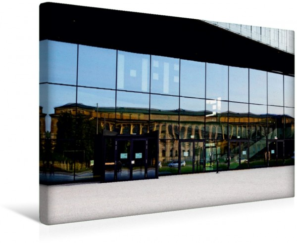 Wandbild Spiegelung: Alte Pinakothek München Kunstmuseum München Kunstmuseum