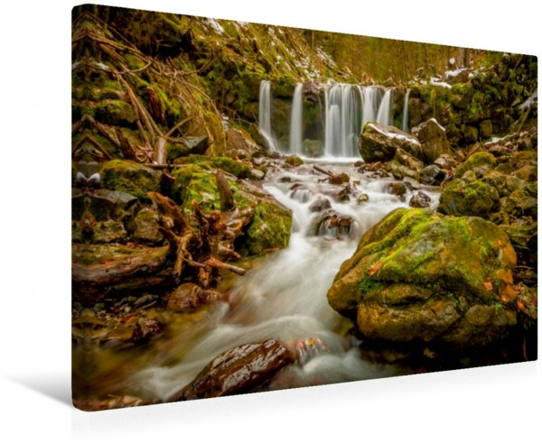 Wandbild Wildromatischer Wasserfall des Gaisalpbaches