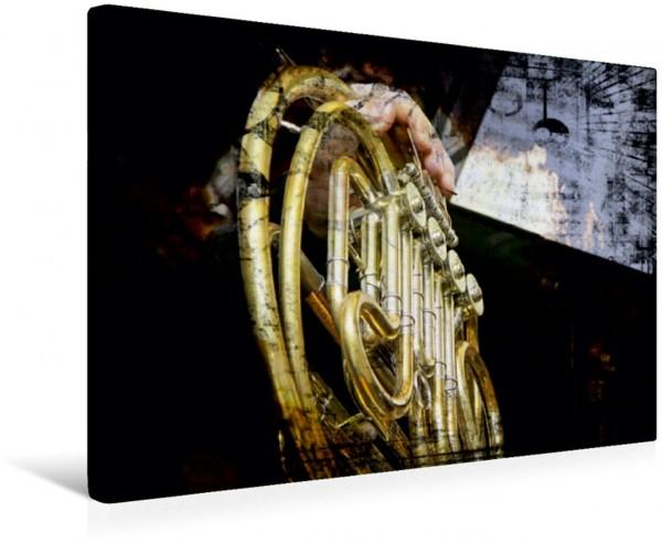 Wandbild Horn Blasinstrument Blasinstrument