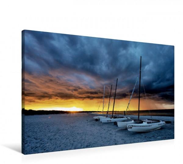 Wandbild Aufziehendes Unwetter zum Sonnenuntergang Am Darßer Weststrand Am Darßer Weststrand