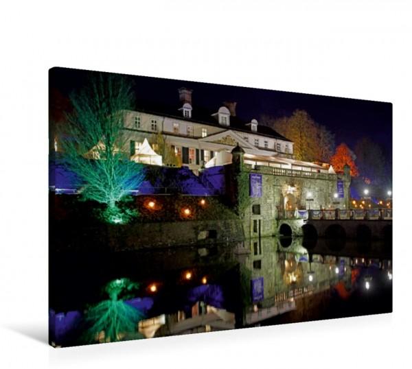 Wandbild Schloss Bad Pyrmont bei Nacht