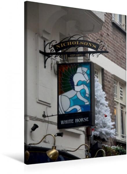 Wandbild Kneipenschilder in London - WHITE HORSE Soho AUSHÄNGE-Schilder der Londoner Pubs AUSHÄNGE-Schilder der Londoner Pubs