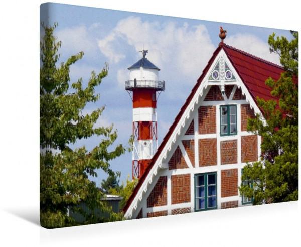 Wandbild Leuchtturm Elbe, Altes Land