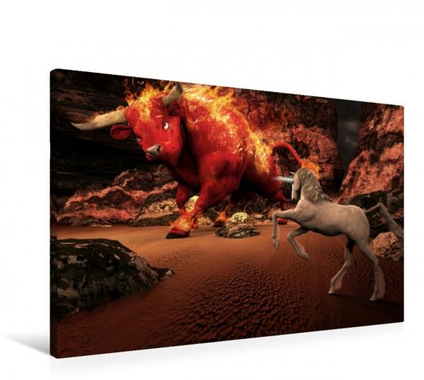 Wandbild Roter Stier
