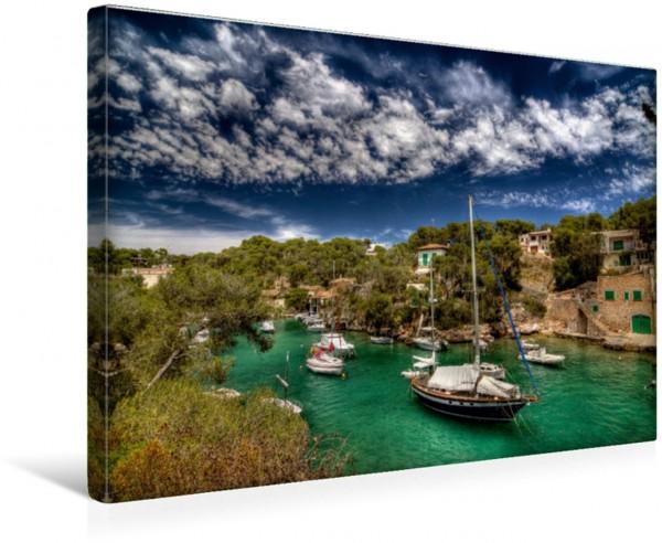 Wandbild Mallorca wundervoller Hafen Cala Figuera
