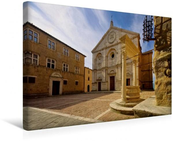 Wandbild Pienza Toskana - Großarige Bauten Toskana - Großarige Bauten