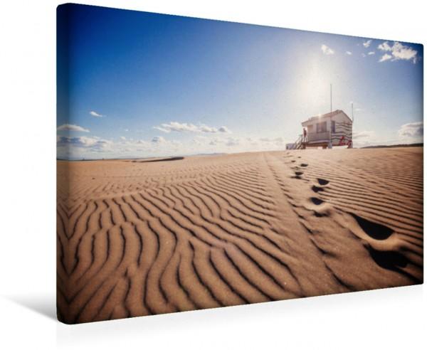 Wandbild Traumstrand in Südfrankreich Feinster Sandstrand in der Abendsonne Feinster Sandstrand in der Abendsonne