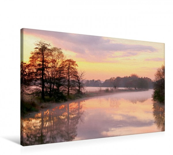 Wandbild Mystische Momente - Nebelstimmungen an der Ruhr Traumhafter Sonnenuntergang Traumhafter Sonnenuntergang