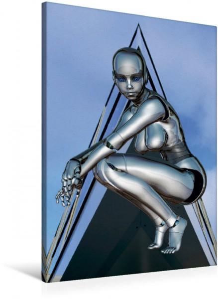 Wandbild Weiblicher Liebesroboter