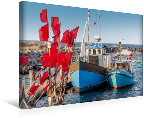 Wandbild Fischerboote im Hafen von Kühlungsborn an der Ostsee