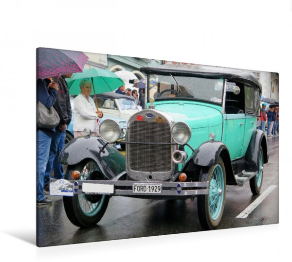 Wandbild Ford A Jahrgang 1929 Oldtimer Festival mit Ford Gangsterwagen Oldtimer Festival mit Ford Gangsterwagen