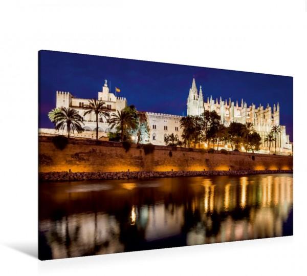 Wandbild Palacio Real und Kathedrale La Seu in Palma de Mallorca