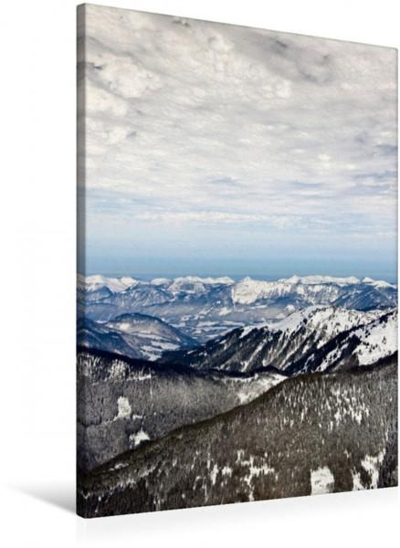 Wandbild Mit dem Heissluftballon über den österreichischen Alpen