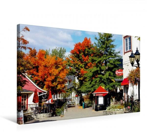 Wandbild Die Fußgängerzone von Mont Tremblant