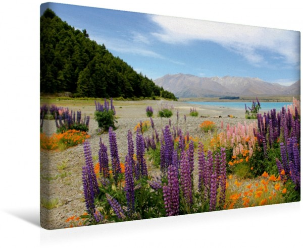 Wandbild Lake Tekapo eine fantastische Entdeckungsreise im Land der Kiwis eine fantastische Entdeckungsreise im Land der Kiwis