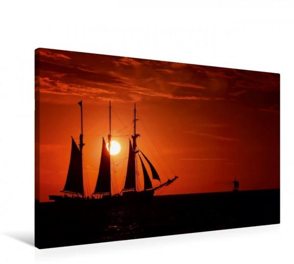 Wandbild Sunset Sailing