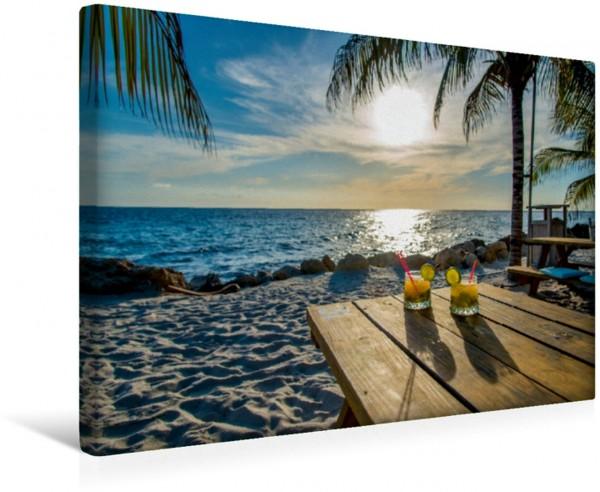 Wandbild Trauminsel Curaçao Sundowner am Strand Sundowner am Strand