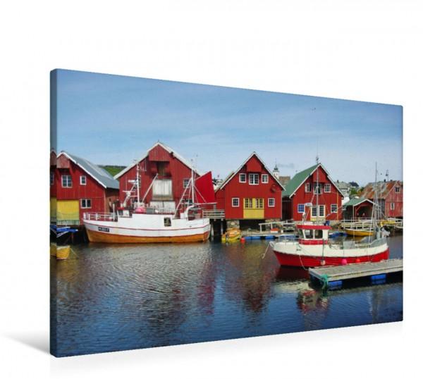 Wandbild Hafen von Bud Norwegen