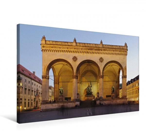 Wandbild Feldherrnhalle in München Die Feldherrnhalle ist eine klassizistische Loggia in der Münchener Innenstadt. König Ludwigs I. ließ sie nach dem Vorbild der Loggia dei Lanzi in Florenz als Denkm