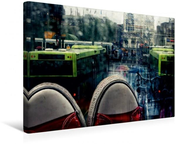 Wandbild meine Schuhe und ich in Amsterdam