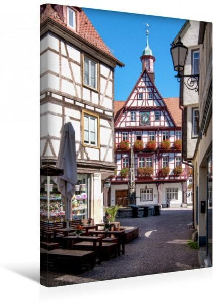 Wandbild Historische Altstadt Bad Urach mit Marktbrunnen Magisches Fachwerk Magisches Fachwerk