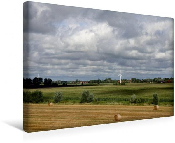 Wandbild Ostfriesland nach der Weizenernte Der Sommer in Ostfriesland nach der Weizenernte Der Sommer in Ostfriesland nach der Weizenernte