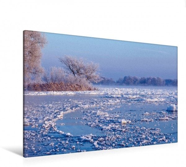Wandbild Winter an der Elbe Ein perfekter Winterzauber an der Elbe Ein perfekter Winterzauber an der Elbe