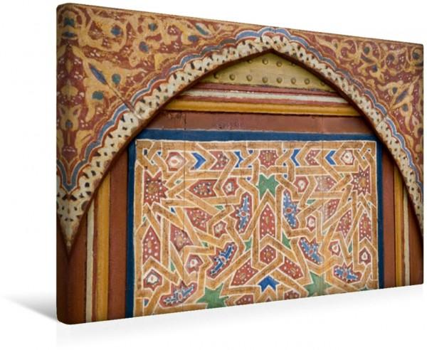 Wandbild Wandschmuck im Palast von Marrakesch.