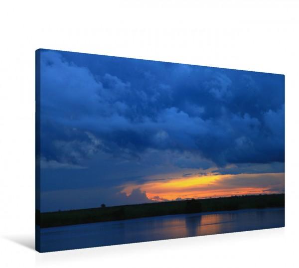 Wandbild Abendstimmung, Botswana, Kasane Gewitterwolken Gewitterwolken