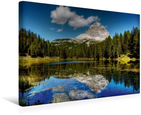 Wandbild Drei Zinnen - Lago d Antorno - Sextener Dolomiten