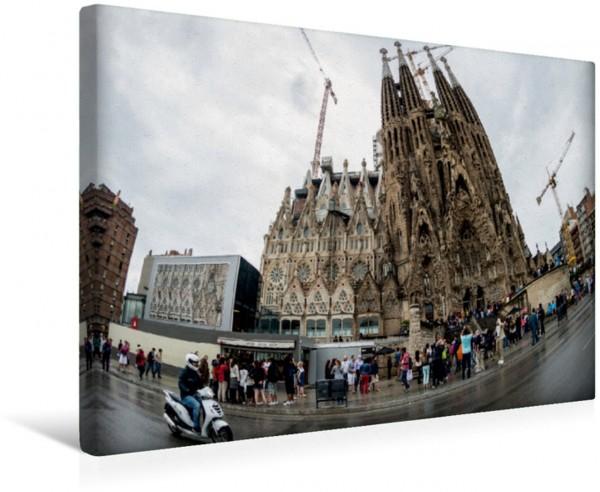 Wandbild Basilika Sagrada Familia - die Unvollendete von Antoni Gaudi