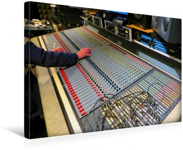 Wandbild Tonstudio - Mixdown am Hauptmischpult