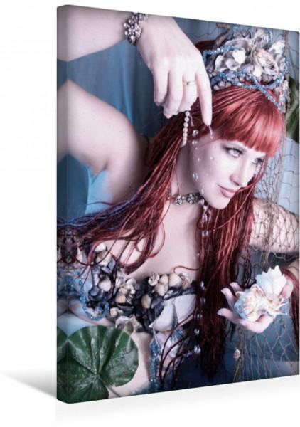 Wandbild Meerjungfrau mit Wasserperlen Märchenhafte Fotografie Märchenhafte Fotografie