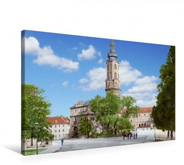 Wandbild Weimar - Residenzschloss um 1900