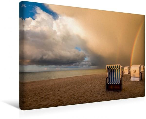 Wandbild Regenbogen am Strand in Zingst