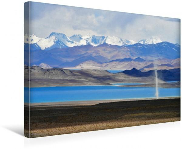 Wandbild Windhose, Karakul See, Pamir Highway, Tadschikistan