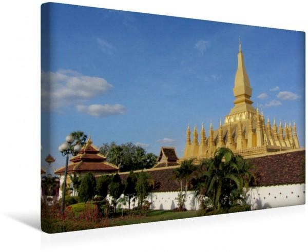 Wandbild Laos - die goldenen Pagoden Südostasiens Pha That Luang in Vientiane Pha That Luang in Vientiane