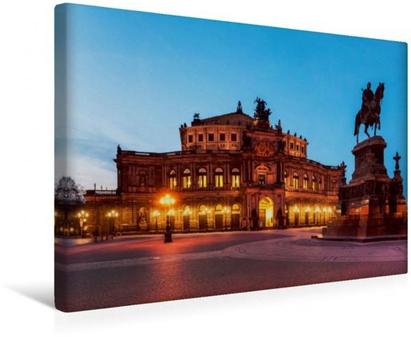 Wandbild Semperoper Dresden bei Nacht Dresden-Sachsen-Deutschland-Europa Dresden-Sachsen-Deutschland-Europa