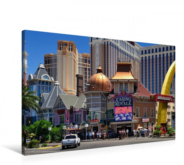 Wandbild Typische Straßenszene am Las Vegas Boulevard