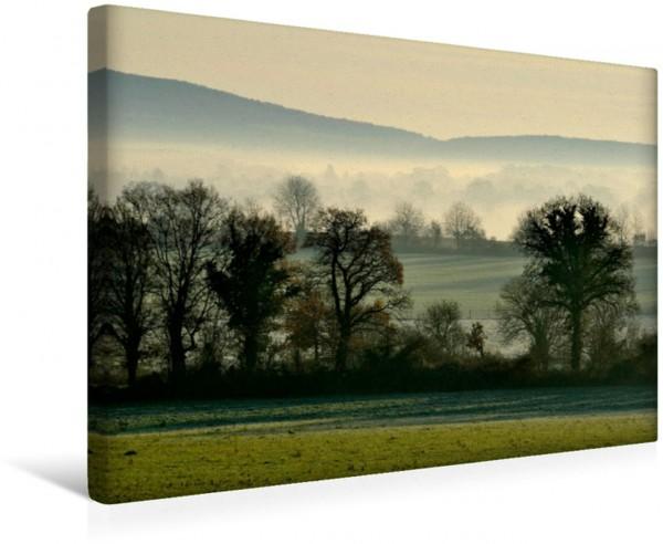 Wandbild Sonnenaufgang auf dem Lande Morgendlicher Nebel auf dem Land Morgendlicher Nebel auf dem Land