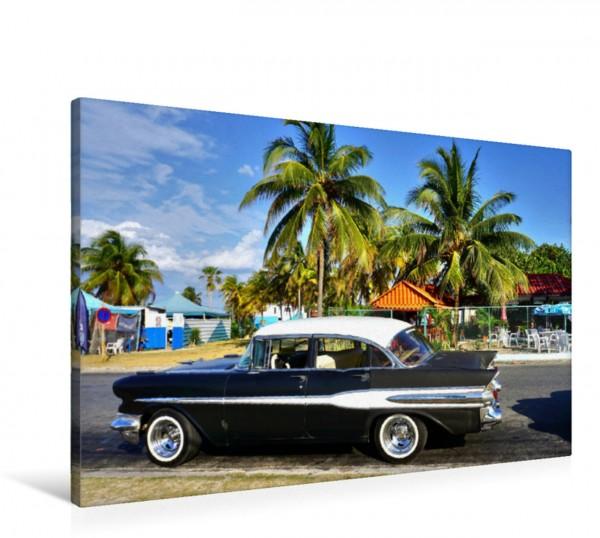 Wandbild Der US-Oldtimer Pontiac Chieftain von 1957 in Kuba