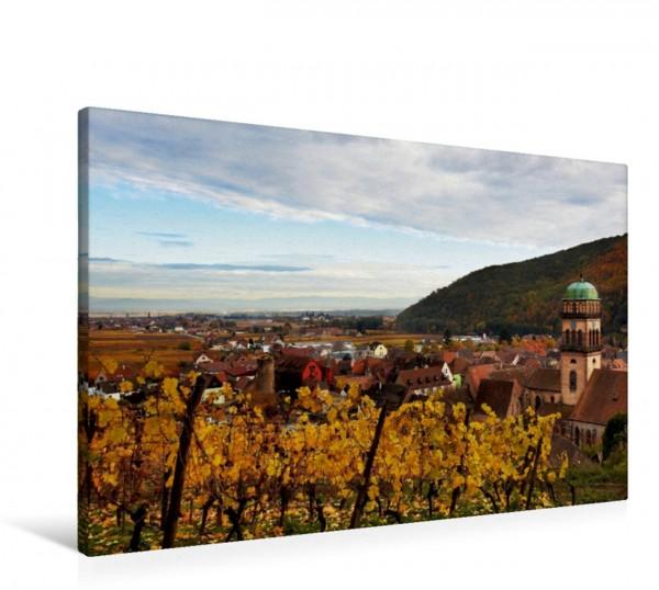 Wandbild Blick auf Kaysersberg, Elsass, Frankreich Blick auf Kaysersberg Elsass Frankreich Blick auf Kaysersberg Elsass Frankreich