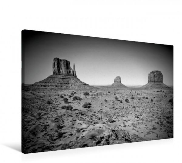 Wandbild Schönes Monument Valley in Monochrom Westernlandschaft Westernlandschaft