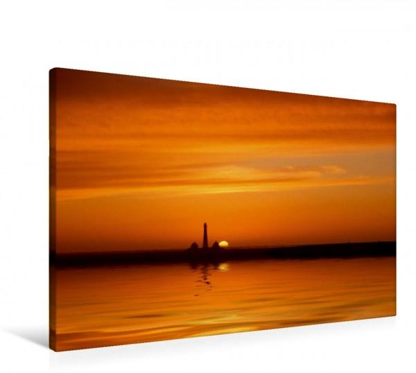 Wandbild Sonnenuntergang in Westerhever Romantischer Sonnenuntergang Romantischer Sonnenuntergang