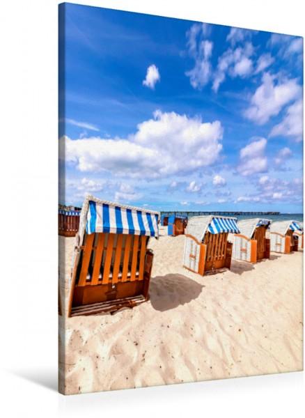 Wandbild Strandkörbe am Strand INSEL RÜGEN INSEL RÜGEN