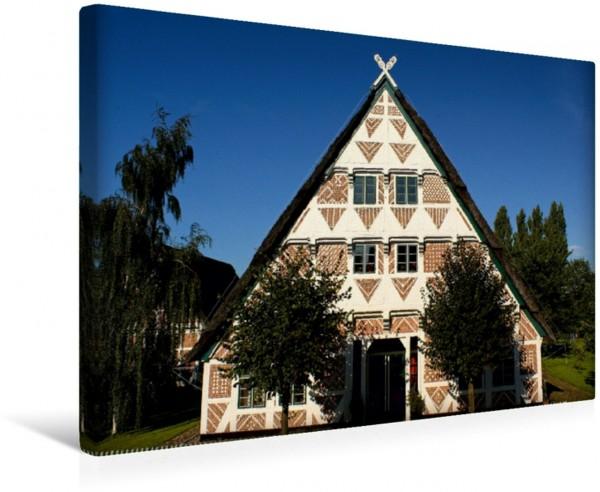 Wandbild Schöne Muster Altländer Fachwerkhaus im Licht Altländer Fachwerkhaus im Licht